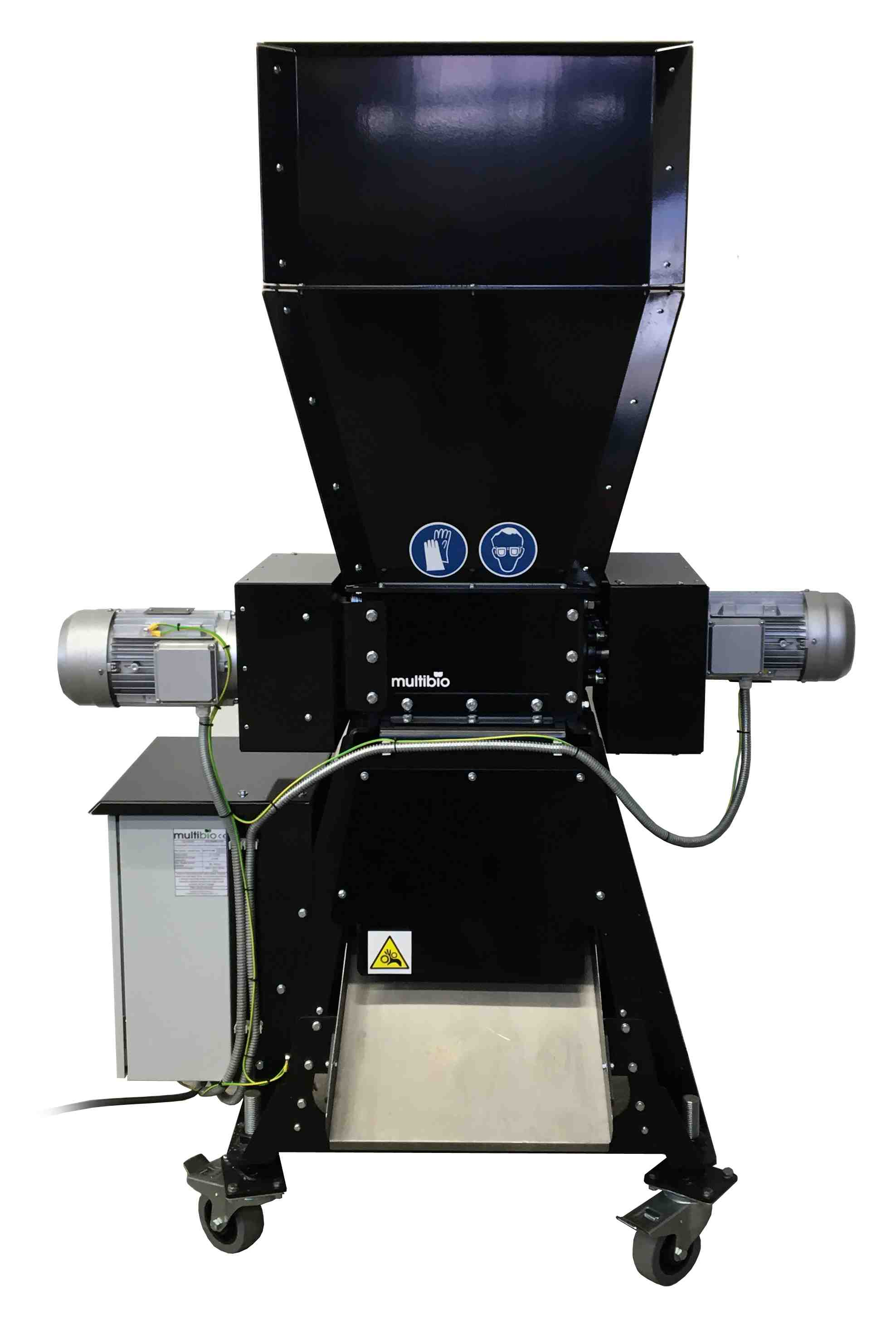 Chipboard crusher backview